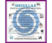 Services c & b : servicios de instalación , mantenimiento y reparación.