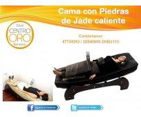 Masaje relajante en cama mecanica*piedras de jade