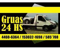 Auxilio las 24 hs 153032-1698 traslados de casa rodantes, autoevadores, bobcat,...