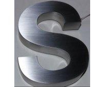 Letras en acero inoxidable números y logotipos