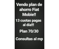 Vendo plan de ahorro fiat mobie