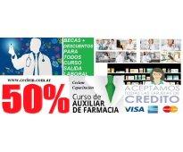 Curso auxiliar de farmacia beca 50% salida laboral