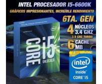 Vendo; microprocesador intel core i5 6600k 3.50ghz turbo: 3.90ghz cache: 6mb soc...