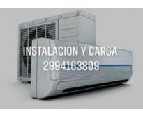 Instalacion y carga de aire split