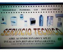 Instalacion de aire acondicionado -reparacion-cargas de gas