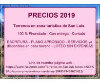Precios 2019 !!! terreno san luis. escritura. servicios.
