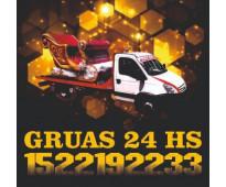 15-22192233 grúas camilla auxilio mecánico remolques y traslados 24hs