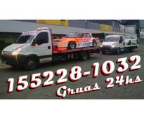 15-52281032 grúas camilla auxilio mecánico remolques y traslados 24hs