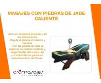 Camillas de masajes con piedras de jade