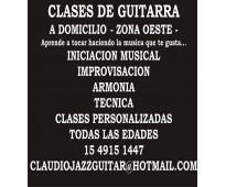 Clases de guitarra - a domicilio -  zona oeste (ramos mejia - haedo - san justo...
