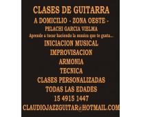 Clases de guitarra - en zona oeste (ramos mejia - haedo - san justo - etc.)
