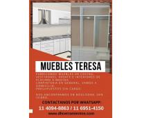 Muebles de cocina frente e interiores de placard