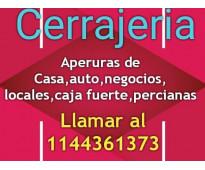 Cerrajeria las 24 hs de urgencias  en toda zona sur 11-4436-1373