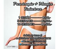 Presoterapia + masaje reductor. en palermo
