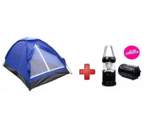 Carpa + farol a led camping, vacaciones