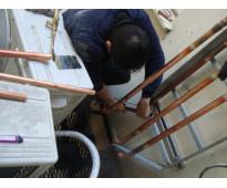Trabajos en alturas con silletas en acasuso