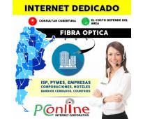 Internet dedicado fibra optica en todo argentina isp empresa