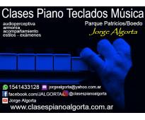 Clases de piano, teclados y música