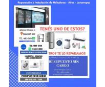 Servicio técnico lavarropas - heladeras - aires