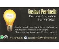 Electricista matriculado cat.iii. instalaciones - reparaciones
