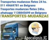 Transportes mudanzas fletes 24 horas