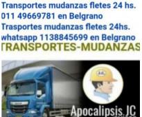Transportes mudanzas fletes 24 horas 1138845699