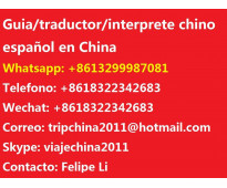Traductor interprete chino español en shanghai china
