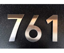 Números de acero inoxidable para casas en calle cordero