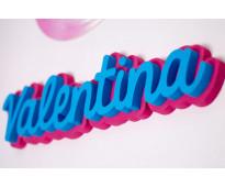 Letras de polifan decoradas