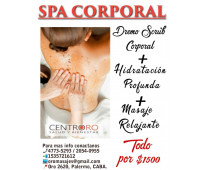 Dermo scrub + hidratación profunda + masaje relajante
