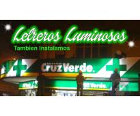 Cruz led farmacias en av. h. yrigoyen lanus