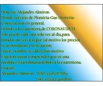 Plomeria gas herreria construccion en general