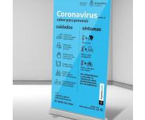 Formosa comercios carteles de señalizacion virus