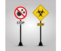 Carteles de salud virus comercios neuquen