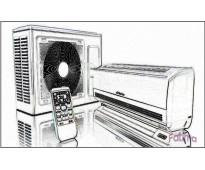 Instalacion y reparacion de aire acondicionado.