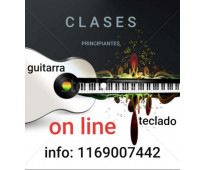 Clases de guitarra o teclado on line.