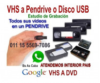 Vhs video a digital pen drive o disco rigido.