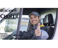 Chofer con vehiculo propio tipo traffic, ducato, maxi ducato