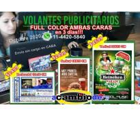 5000 flyers full color de los dos lados 15x10cm $2499