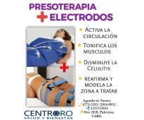 Presoterapia + electrodos!!!