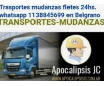 Transportes mudanzas fletes 24hs. 1138845699