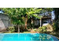 Vendo propiedad para alojamiento turístico  jardín arbolado, piscina, patio y ch