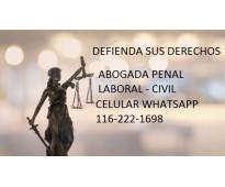 Abogada penalista civil laboral