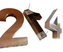 Números de acero inoxidable para casas en dr. melo