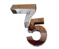 Números para casas en acero inoxidable 3d en Dr. Melo