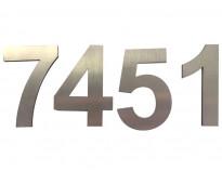Números en acero inoxidable para fachadas en av. 25 de mayo