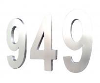 Números para casas en acero inoxidable 3d en av. 25 de mayo