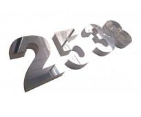 Números de metal para fachadas en aristóbulo del valle