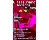 Clases on line de piano, teclados y música.