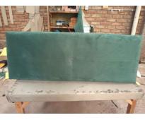 Respaldo somier pana verde 1,60 x 0,60